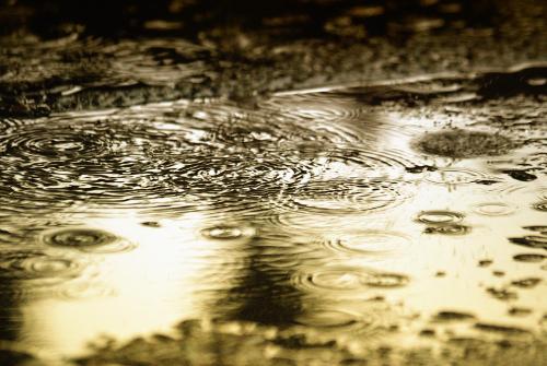 Regen und Licht